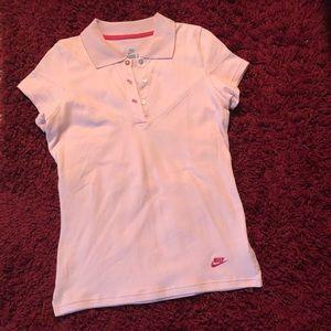 Nike pink women's golf shirt